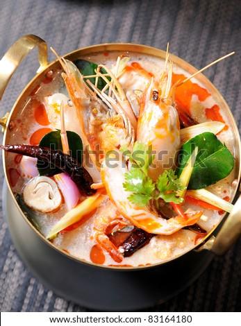 Thai Dishes - Tom Yam Kung - stock photo