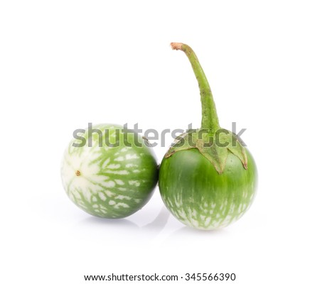 Thai eggplant isolated on white background.