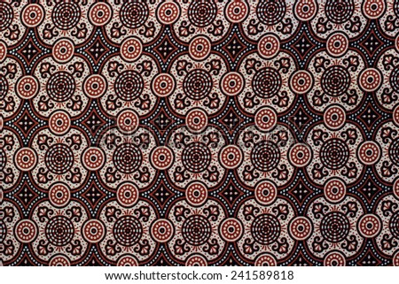 thai fabric texture - stock photo