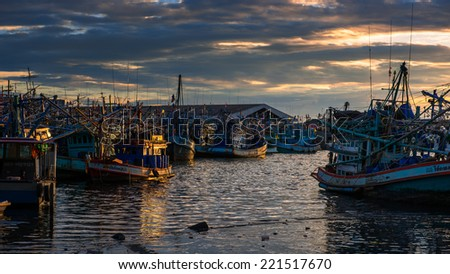 Thai Fishing Boat - stock photo