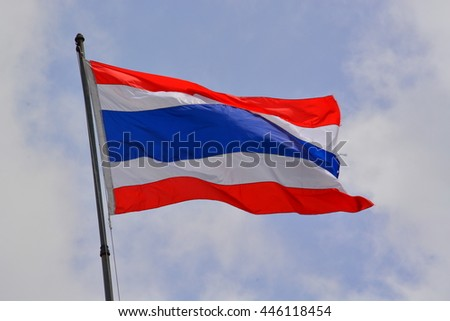thai flag and sky backgrounds