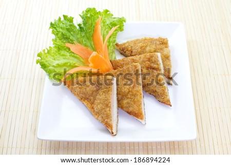 Thai Food Fish Cake ( Tod Mun Pla ) - stock photo