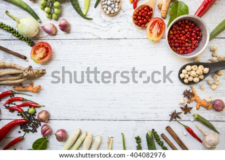 Thai food ingredients stock photo 404082976 shutterstock thai food ingredients forumfinder Image collections