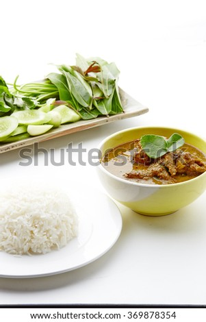 Thai Food on white background