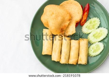Thai food vegetarian mix - stock photo