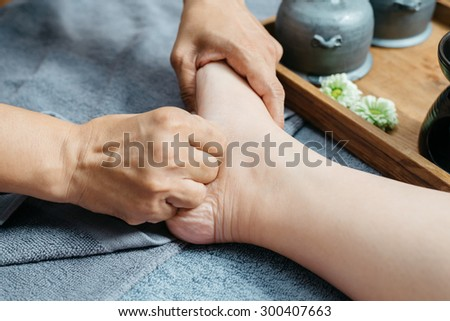 Thai foot massage series