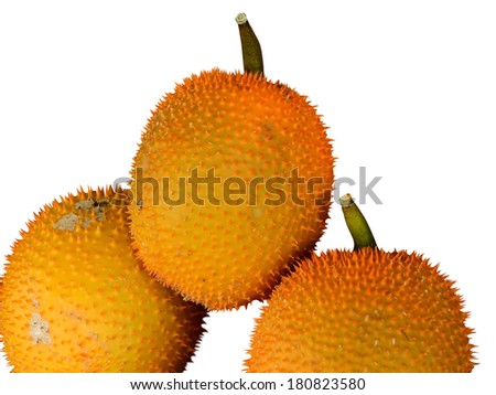 Thai fruit (Baby Jackfruit Spiny Bitter Gourd, Sweet Gourd, Coch - stock photo