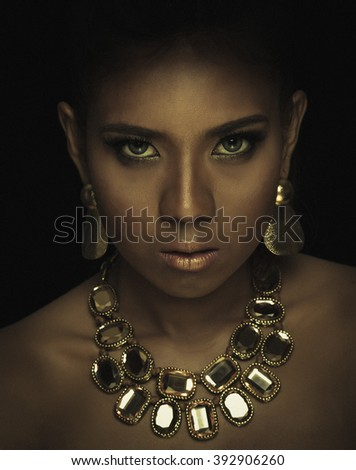 thai girl portrait - stock photo