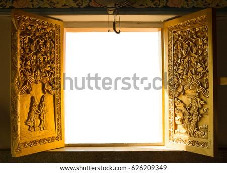 Thai golden door In temple & Thai Golden Door Temple Stock Photo 626209349 - Shutterstock Pezcame.Com