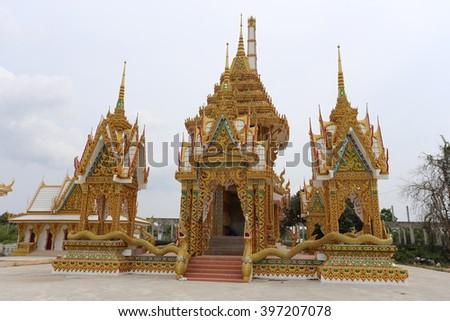 Thai golden temple - stock photo