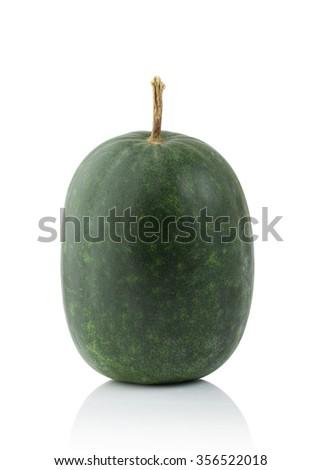 Thai gourd  isolated on white background - stock photo