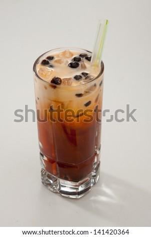 Thai Ice Tea with Boba - stock photo