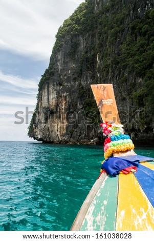 thai longtail boat - stock photo