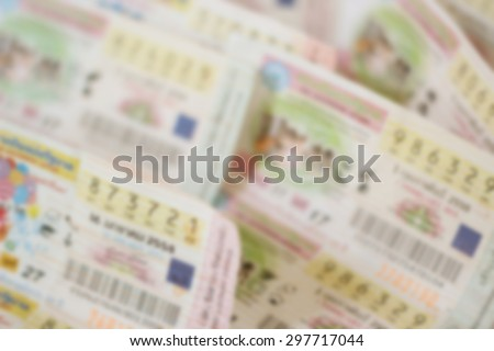 Thai lottery tickets, Soft Focus. - stock photo