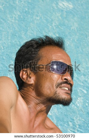 Thai man in the pool