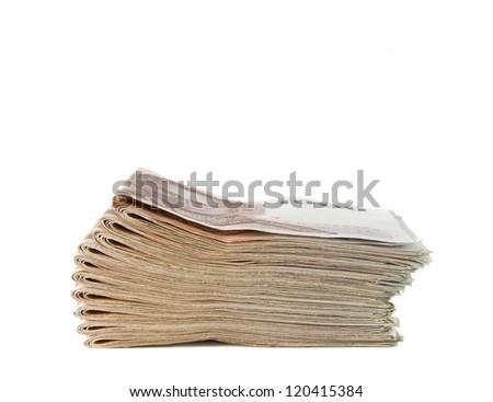 Thai money banknotes isolated on white background. - stock photo