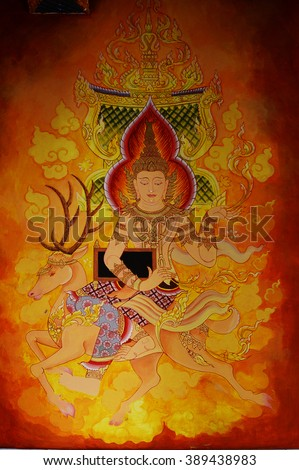 Mural stock photos royalty free images vectors for Buddha mural art