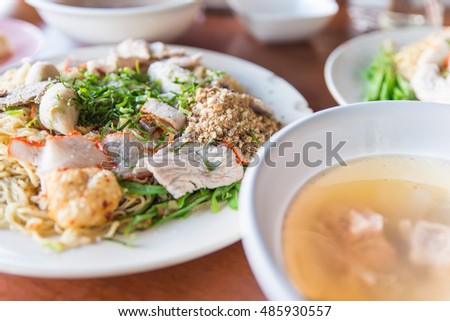 Thai noodles and soup