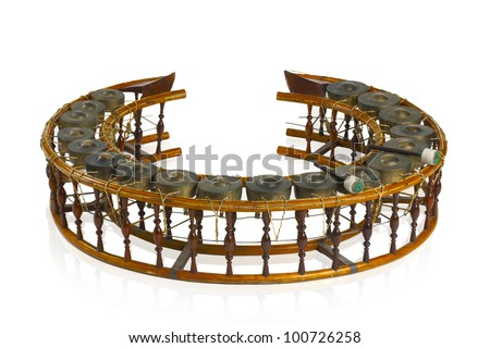 Thai old xylophone traditional  musical instrument - stock photo