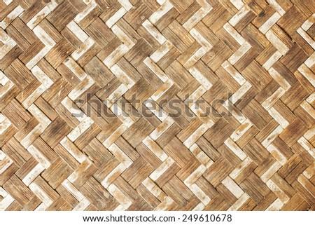 Thai pattern bamboo handicraft. - stock photo