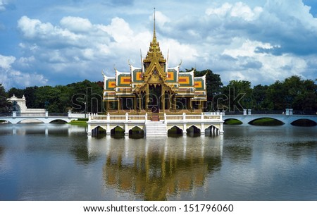 Thai pavilion in the lake