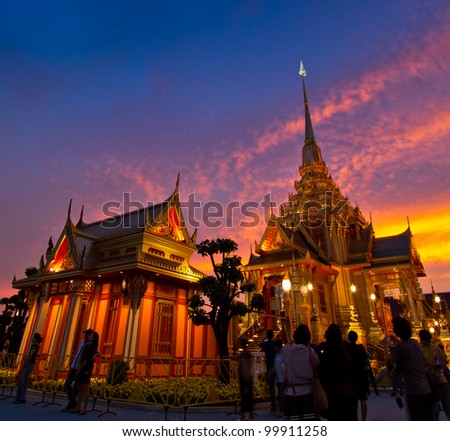 Thai royal funeral. - stock photo