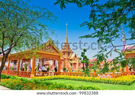 Thai royal funeral in bangkok thailand - stock photo