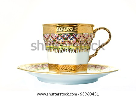 thai's design of cup isolated - stock photo