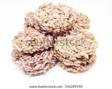 Thai's Rice cracker or rice biscuits. - stock photo
