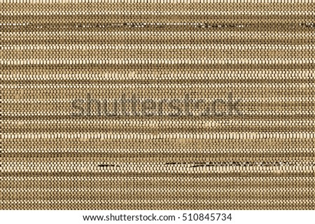 Thai Silk pattern. Closed up thai silk stripe texture with golden mettalic thread  as background