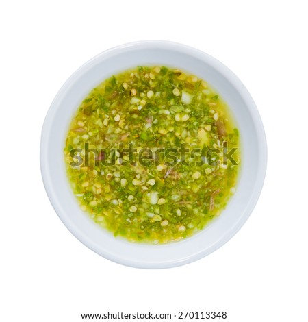 Thai spicy sauce seafood - stock photo