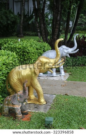 Thai spirit house - travel and tourism image. - stock photo