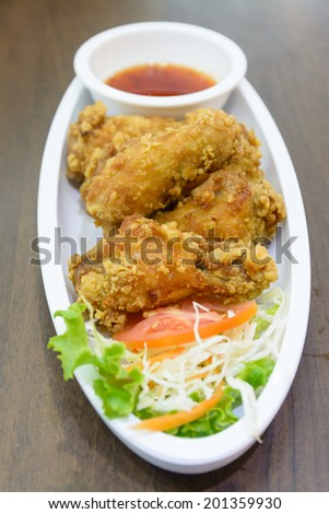 Thai style Fried chicken wing stick