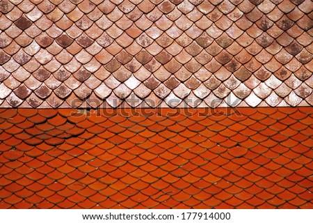 Thai style roof texture - stock photo