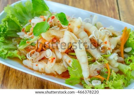 Thai style spicy salad thai chicken stock photo 100 legal thai style spicy salad thai chicken legs spicy salad thai recipe thai food forumfinder Gallery