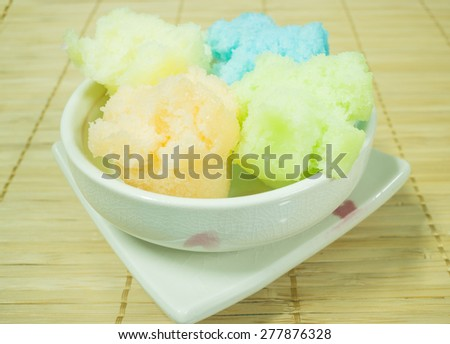 Thai style steamed cup cake, stock photo