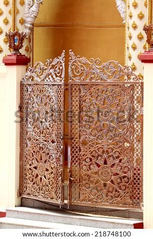 Thai style steel fence - stock photo