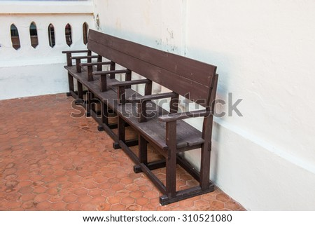 Thai style waiting chair at waiting area, Thailand. - stock photo