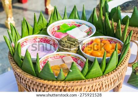 Thai sweet dessert - stock photo