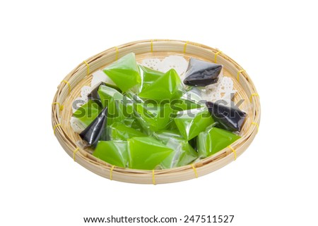 Thai sweets,Thai style marzipan fruits, Traditional Thai Dessert.