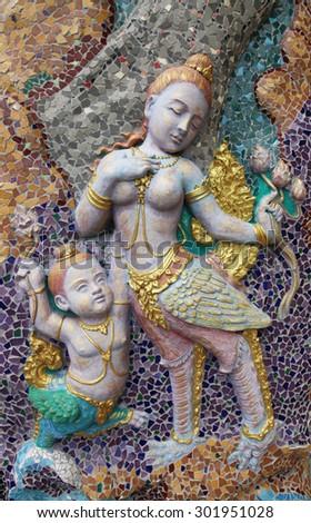 Thai Temple Art - stock photo