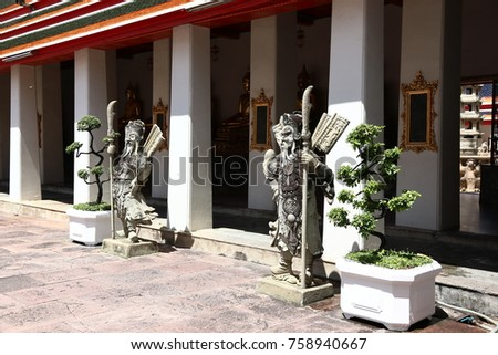 Thai temple, Budha and Pagoda