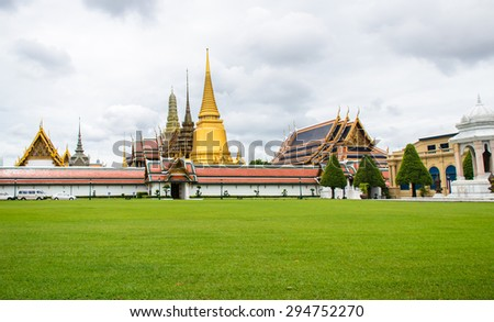 thai temple in Bangkok - stock photo