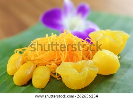 Thai traditional favorite dessert. - stock photo
