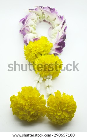 Thai traditional floral garland - stock photo