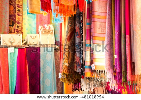 thai traditional knitting scarf store