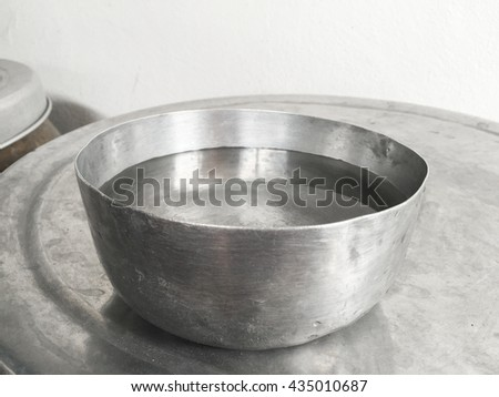 Thai water bowl on the jar
