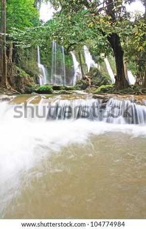 thai waterfall - stock photo