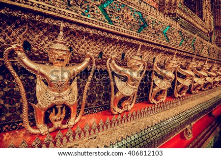 THAILAND. BANGKOK - MARCH 31/2016: View of the temples Bangkok. March 31, 2016