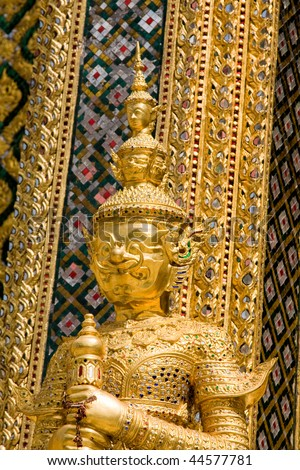 Thailand, Bangkok.The temple in the Grand palace area.